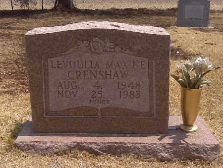 CRENSHAW, LEVOULIA MAXINE - Scott County, Missouri | LEVOULIA MAXINE CRENSHAW - Missouri Gravestone Photos