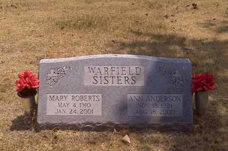 WARFIELD ROBERTS, MARY - Scott County, Missouri | MARY WARFIELD ROBERTS - Missouri Gravestone Photos