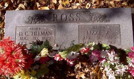 SANDERS ROSS, LIZZIE A - Scott County, Missouri | LIZZIE A SANDERS ROSS - Missouri Gravestone Photos