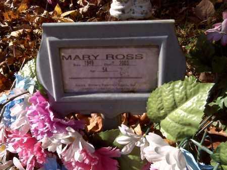 BURNS ROSS, MARY - Scott County, Missouri | MARY BURNS ROSS - Missouri Gravestone Photos