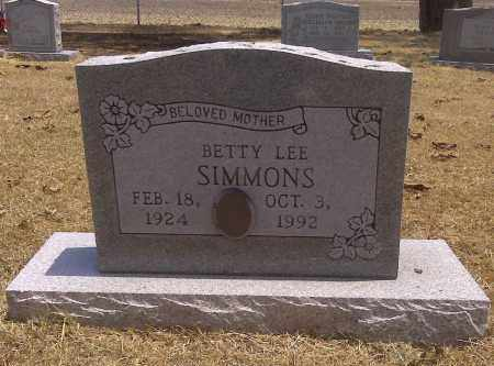 SIMMONS, BETTY LEE - Scott County, Missouri | BETTY LEE SIMMONS - Missouri Gravestone Photos