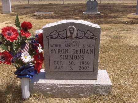 SIMMONS, BYRON DEJUAN - Scott County, Missouri | BYRON DEJUAN SIMMONS - Missouri Gravestone Photos