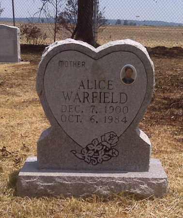 WARFIELD, ALICE - Scott County, Missouri | ALICE WARFIELD - Missouri Gravestone Photos
