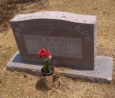 WARFIELD, ELISHA W - Scott County, Missouri   ELISHA W WARFIELD - Missouri Gravestone Photos