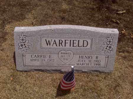 WARFIELD, HENRY R - Scott County, Missouri | HENRY R WARFIELD - Missouri Gravestone Photos