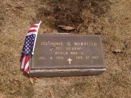 WARFIELD (VETERAN WWII), JOHNNIE G - Scott County, Missouri | JOHNNIE G WARFIELD (VETERAN WWII) - Missouri Gravestone Photos