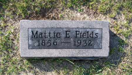 FIELDS, MATTIE E. - Shelby County, Missouri | MATTIE E. FIELDS - Missouri Gravestone Photos