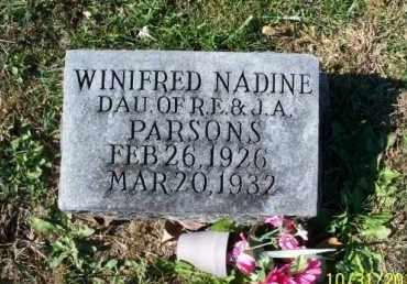 PARSONS, WINIFRED NADINE - Shelby County, Missouri | WINIFRED NADINE PARSONS - Missouri Gravestone Photos
