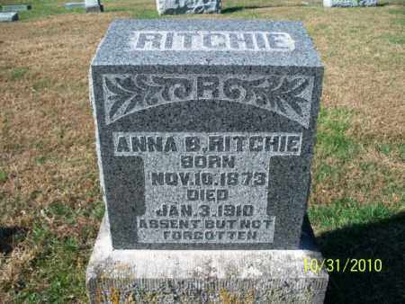 RITCHIE, ANNA B. - Shelby County, Missouri | ANNA B. RITCHIE - Missouri Gravestone Photos