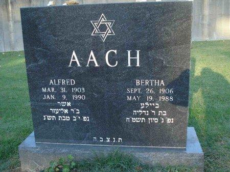 AACH, BERTHA - St. Louis County, Missouri | BERTHA AACH - Missouri Gravestone Photos