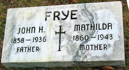 FOHR FRYE, MATHILDA - St. Louis City County, Missouri   MATHILDA FOHR FRYE - Missouri Gravestone Photos