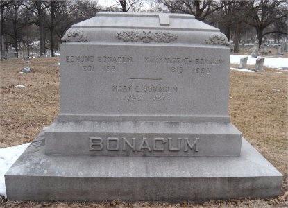 BONACUM, EDMUND - St. Louis City County, Missouri | EDMUND BONACUM - Missouri Gravestone Photos