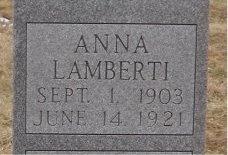 LAMBERTI, ANNA (CLOSE UP) - St. Louis City County, Missouri | ANNA (CLOSE UP) LAMBERTI - Missouri Gravestone Photos