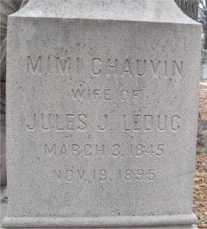 "CHAUVIN LEDUC, MARY A ""MIMI"" - St. Louis City County, Missouri | MARY A ""MIMI"" CHAUVIN LEDUC - Missouri Gravestone Photos"