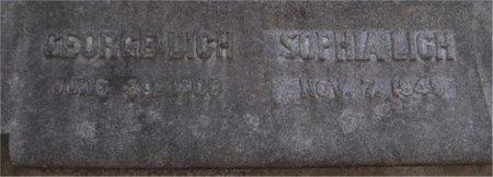 LICH, SOPHIA (CLOSE UP) - St. Louis City County, Missouri | SOPHIA (CLOSE UP) LICH - Missouri Gravestone Photos