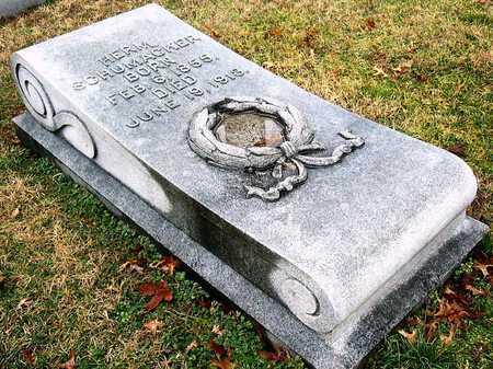 SCHUMACHER, HERMANN - St. Louis City County, Missouri   HERMANN SCHUMACHER - Missouri Gravestone Photos