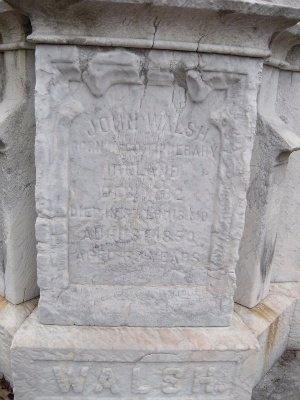 WALSH, JOHN (CLOSE UP) - St. Louis City County, Missouri | JOHN (CLOSE UP) WALSH - Missouri Gravestone Photos