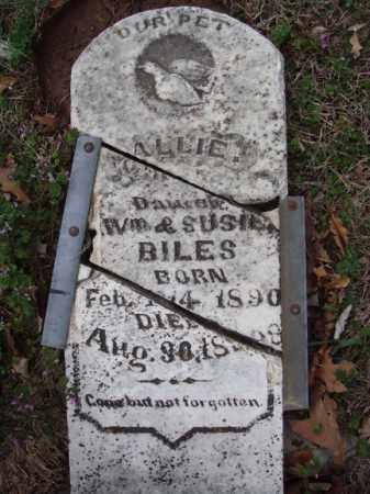 BILES, ALLIE - Stone County, Missouri | ALLIE BILES - Missouri Gravestone Photos