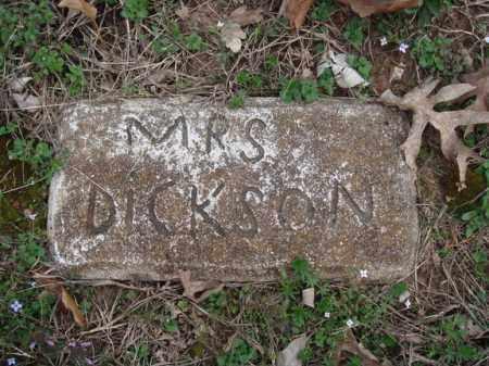 DICKSON, MRS - Stone County, Missouri   MRS DICKSON - Missouri Gravestone Photos