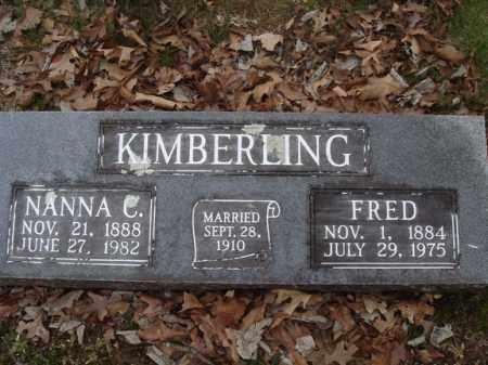 KIMBERLING, NANNA C - Stone County, Missouri   NANNA C KIMBERLING - Missouri Gravestone Photos