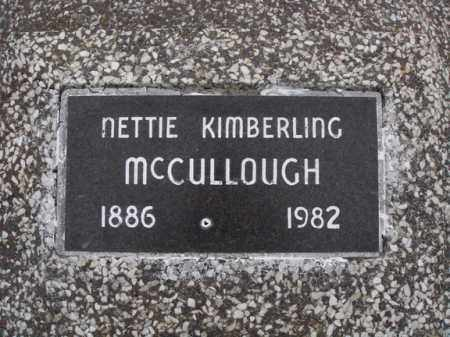 KIMBERLING MCCULLOUGH, NETTIE - Stone County, Missouri | NETTIE KIMBERLING MCCULLOUGH - Missouri Gravestone Photos