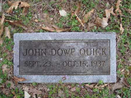 QUICK, JOHN DOWE - Stone County, Missouri | JOHN DOWE QUICK - Missouri Gravestone Photos