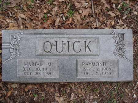 QUICK, RAYMOND L - Stone County, Missouri   RAYMOND L QUICK - Missouri Gravestone Photos