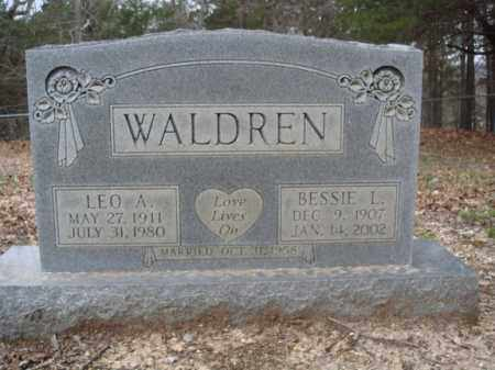 WALDREN, LEO A - Stone County, Missouri | LEO A WALDREN - Missouri Gravestone Photos
