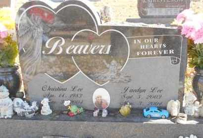 BEAVERS, CHRISTINA LEE - Texas County, Missouri | CHRISTINA LEE BEAVERS - Missouri Gravestone Photos