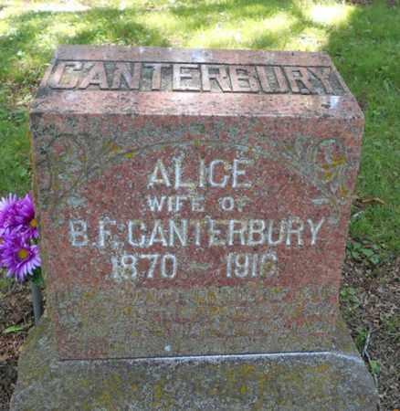 CANTERBURY, ALICE ANN - Texas County, Missouri | ALICE ANN CANTERBURY - Missouri Gravestone Photos