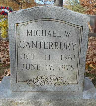 CANTERBURY, MICHAEL W. - Texas County, Missouri | MICHAEL W. CANTERBURY - Missouri Gravestone Photos