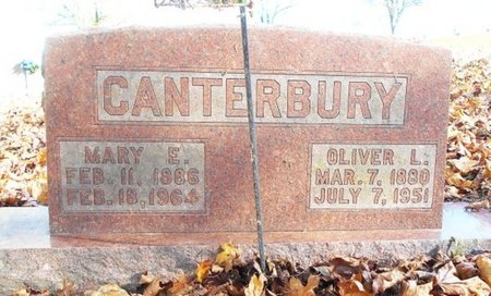 CANTERBURY, OLIVER LEE - Texas County, Missouri | OLIVER LEE CANTERBURY - Missouri Gravestone Photos