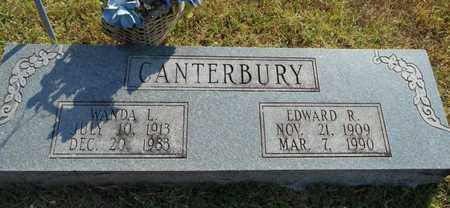 CANTERBURY, EDWARD R. - Texas County, Missouri | EDWARD R. CANTERBURY - Missouri Gravestone Photos