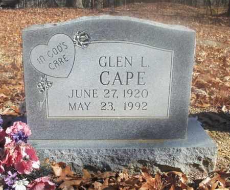 CAPE, GLEN L. - Texas County, Missouri | GLEN L. CAPE - Missouri Gravestone Photos