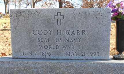 CARR, CODY H. VETERAN WWI - Texas County, Missouri   CODY H. VETERAN WWI CARR - Missouri Gravestone Photos