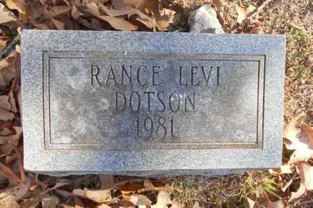 DOTSON, RANCE LEVI - Texas County, Missouri | RANCE LEVI DOTSON - Missouri Gravestone Photos