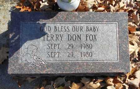 FOX, TERRY DON - Texas County, Missouri | TERRY DON FOX - Missouri Gravestone Photos