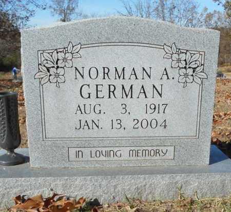 GERMAN, NORMAN A. - Texas County, Missouri   NORMAN A. GERMAN - Missouri Gravestone Photos