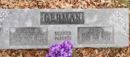 MEANS GERMAN, VIRGINIA D. - Texas County, Missouri | VIRGINIA D. MEANS GERMAN - Missouri Gravestone Photos