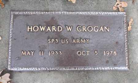GROGAN, HOWARD W.  VETERAN - Texas County, Missouri | HOWARD W.  VETERAN GROGAN - Missouri Gravestone Photos