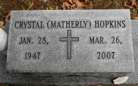 MATHERLY HOPKINS, CRYSTAL - Texas County, Missouri | CRYSTAL MATHERLY HOPKINS - Missouri Gravestone Photos