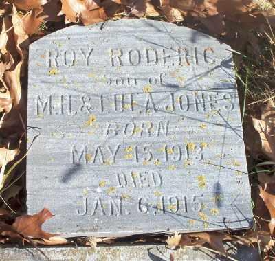 JONES, ROY RODERIC - Texas County, Missouri   ROY RODERIC JONES - Missouri Gravestone Photos