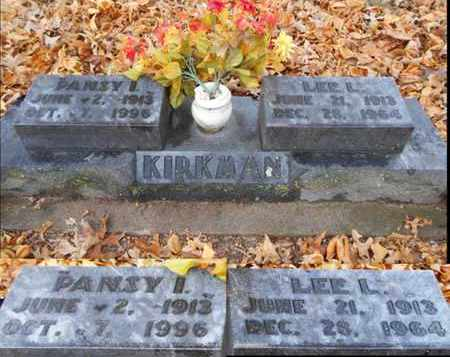 KIRKMAN, PANSY IRENE - Texas County, Missouri | PANSY IRENE KIRKMAN - Missouri Gravestone Photos