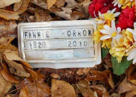KORROK, FANNIE LILLIAN - Texas County, Missouri | FANNIE LILLIAN KORROK - Missouri Gravestone Photos