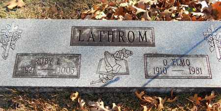 LATHROM, O. ELMO - Texas County, Missouri | O. ELMO LATHROM - Missouri Gravestone Photos