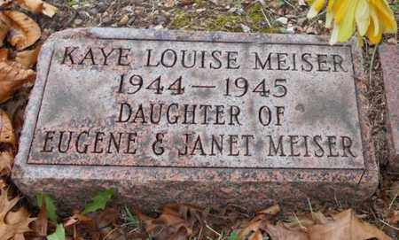 MEISER, KAYE LOUISE - Texas County, Missouri | KAYE LOUISE MEISER - Missouri Gravestone Photos