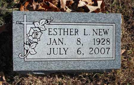 NEW, ESTHER L. - Texas County, Missouri | ESTHER L. NEW - Missouri Gravestone Photos