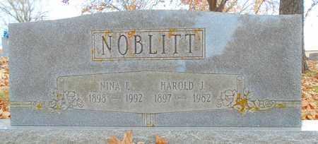 RAY NOBLITT, NINA ELIZABETH - Texas County, Missouri | NINA ELIZABETH RAY NOBLITT - Missouri Gravestone Photos