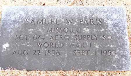 PARIS, SAMUEL W.  VETERAN WWI - Texas County, Missouri | SAMUEL W.  VETERAN WWI PARIS - Missouri Gravestone Photos