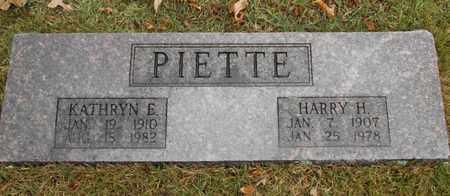 PIETTE, HARRY H. - Texas County, Missouri | HARRY H. PIETTE - Missouri Gravestone Photos